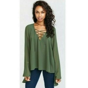 NWT Show me your Mumu The Zuko Willow Chiffon Top